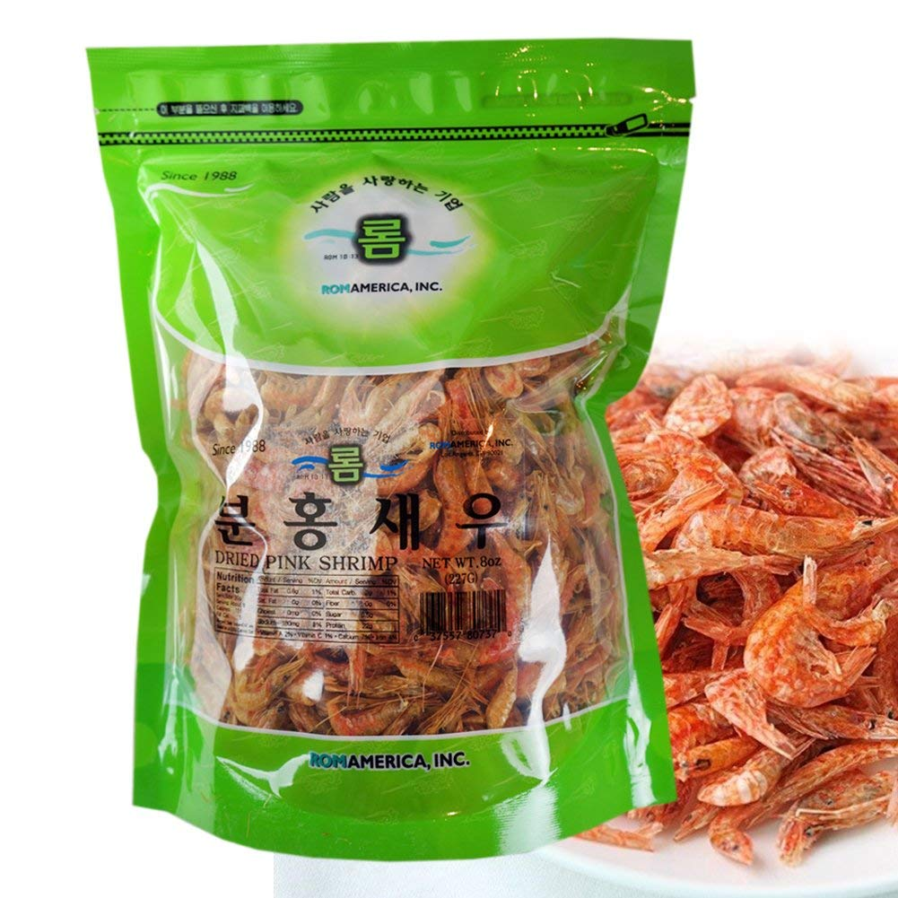[ 8 oz ] Small Whole Dried Pink Shrimp Seafood Fresh 말린 새우/ 건새우