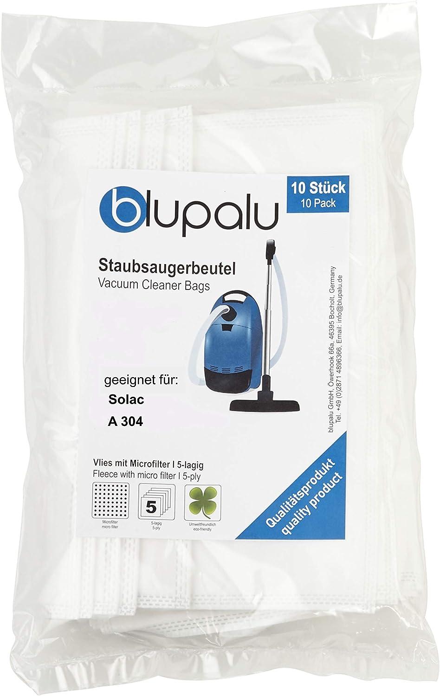 blupalu I Bolsas para aspiradora aspiradora Solac A 304 I 10 Pieza I con Fein Filtro de Polvo: Amazon.es: Hogar