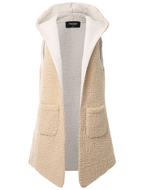 JayJay Women Casual Fuax Fur Boyfreind Loose Fit Fleece Thick Jacket Outer JayJay Company