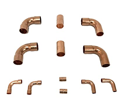 Muellers Copper Fittings Kit HVACR Copper Lines (3/4 3/8)