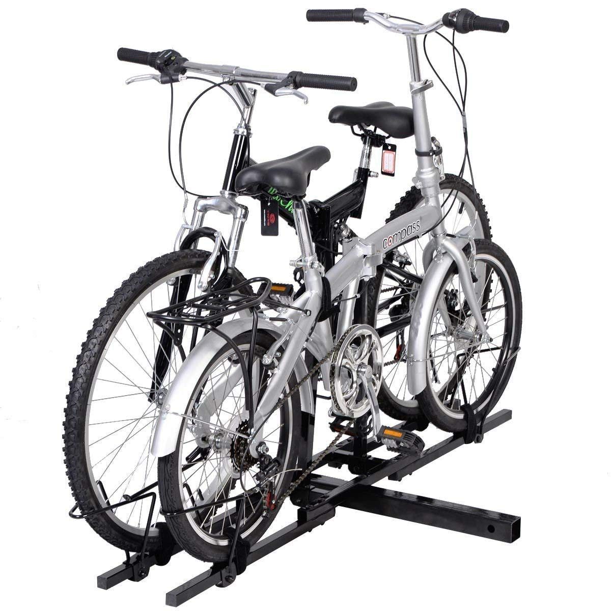 New Upright 2 Mountain Bike Carrier Hitch Mount Bicycle Rack 2 Rear for SUV Van Truck Bike Rack