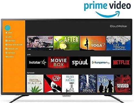 CloudWalker 109 cm  43 inches  4K Ready Full HD Smart LED TV 43SFX2  Black  Smart Televisions