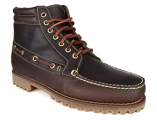 Timberland A13F1 - Botas con Cordones de Piel Hombre, Color Marrón, Talla 44.5 EU: Amazon.es: Zapatos y complementos