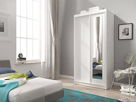 FAST DELIVERY 100 Cm WIDE BRAND NEW SLIDING 2 DOORS WARDROBE (White)