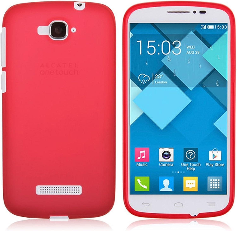 TBOC® Funda de Gel TPU Roja para Alcatel One Touch Pop C7 de Silicona Ultrafina y Flexible: Amazon.es: Electrónica