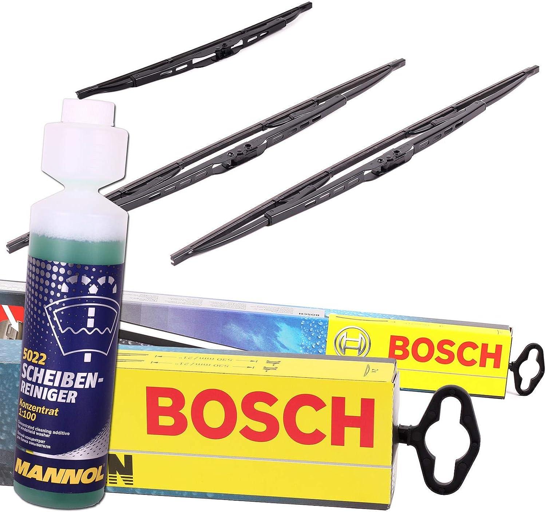 Set Bosch Wischer Wischerblatt Wischerblätter Scheibenwischer Scheibenwischerblätter Aerotwin A581s Heckwischer Heckwischerblatt Heckscheibenwischer H402 Auto