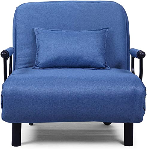BWM.Co Upholstered Convertible Sofa Folding Chair