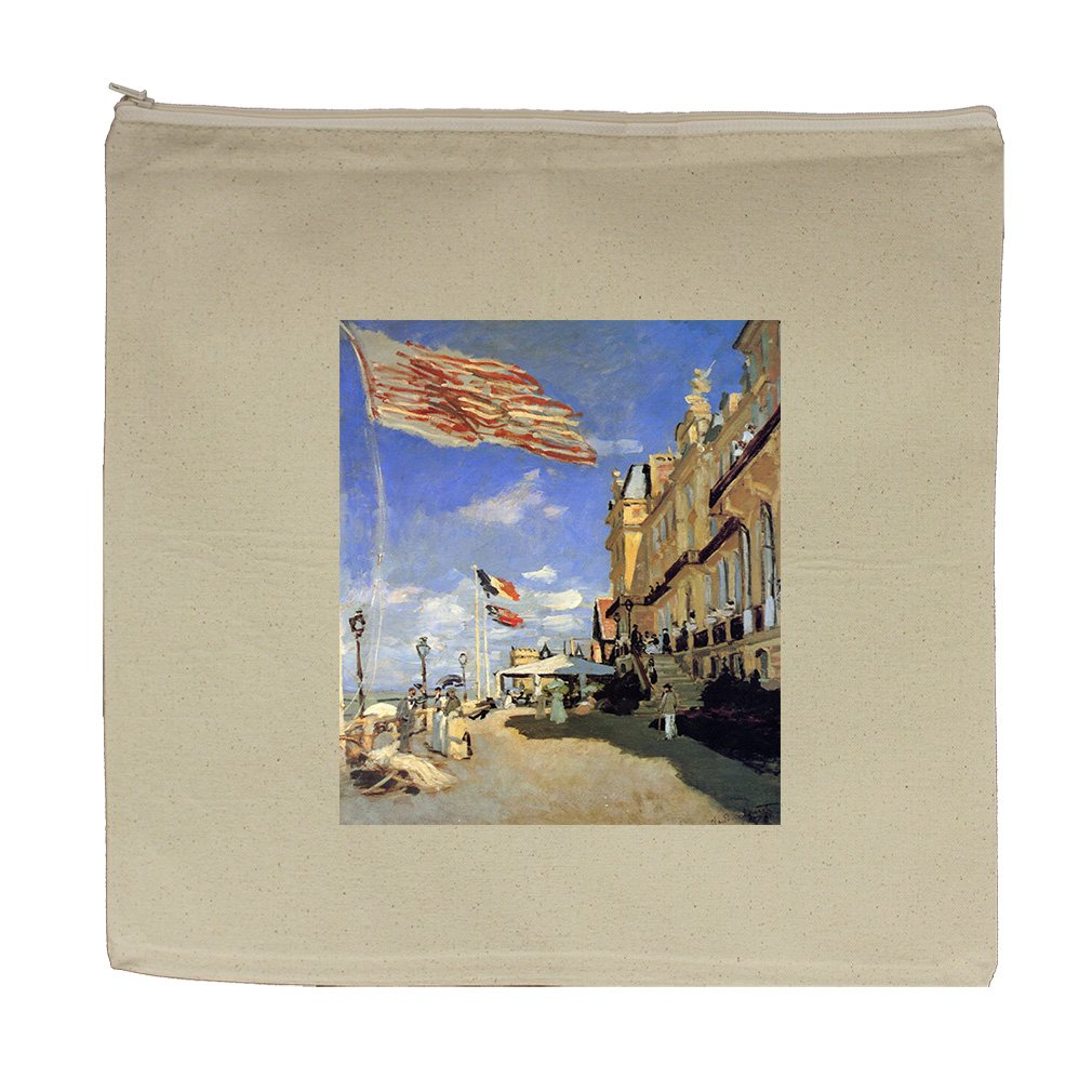 Hotel De Roches Noires Trouville (Monet) Canvas Zipper Tote Bag Makeup Bag