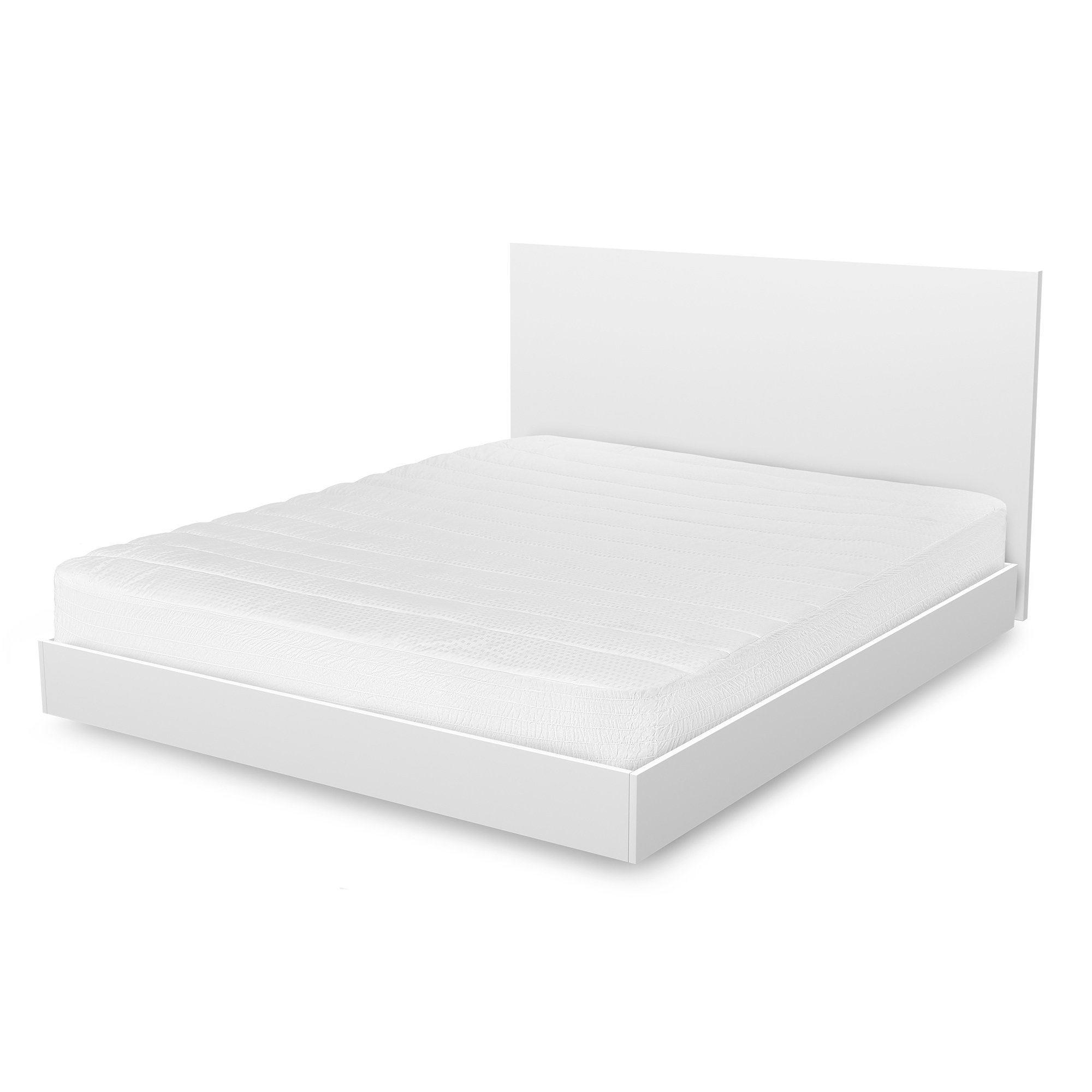 Hotel Madison 400 Thread Count Pima Cotton Mattress Pad - White Twin