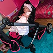 Amazon.com: Mommy & Me Deluxe Babyboo Doll Stroller: Toys ...