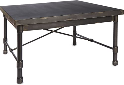 Silverwood FT1155-COM Oxford Industrial Collection Square Coffee Table