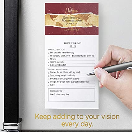 MAGNIFICENT101 Magnetic Notepad: Gratitude x Manifestation Journal - Create  a Vision for Your Dream Life in Your Refrigerator   Inspirational Positive