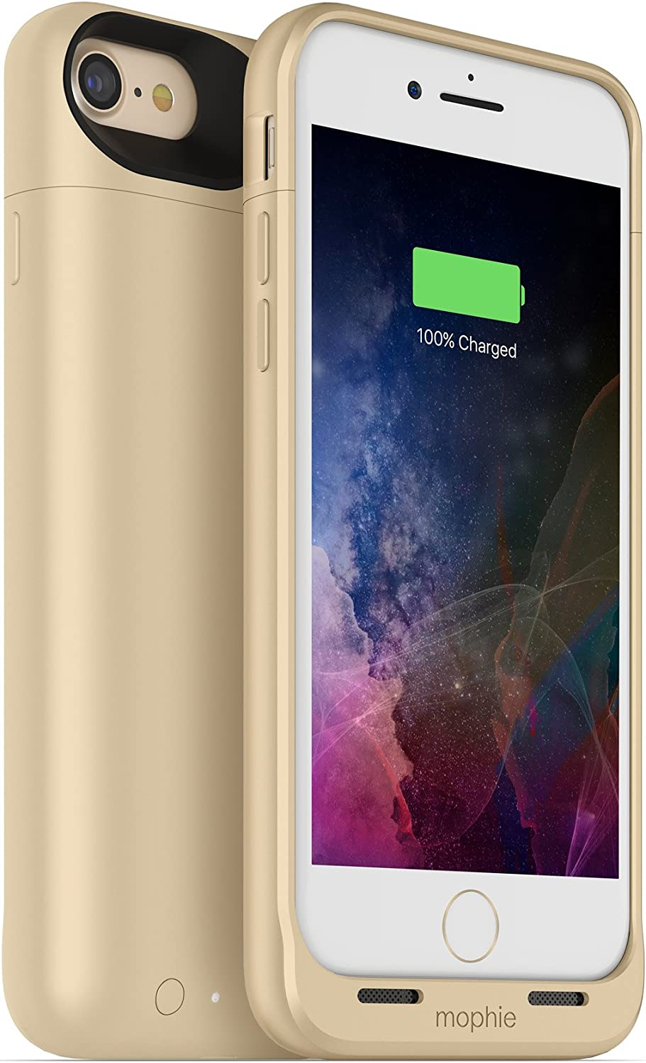 mophie Juice Pack Wireless - Qi Wireless Charging - Protective Battery Case for Apple iPhone 8 and iPhone 7 - Gold