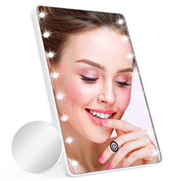 10x Magnifying LED Lighted Makeup /& Shaving Zoom Mirror Useful For Men /& Women
