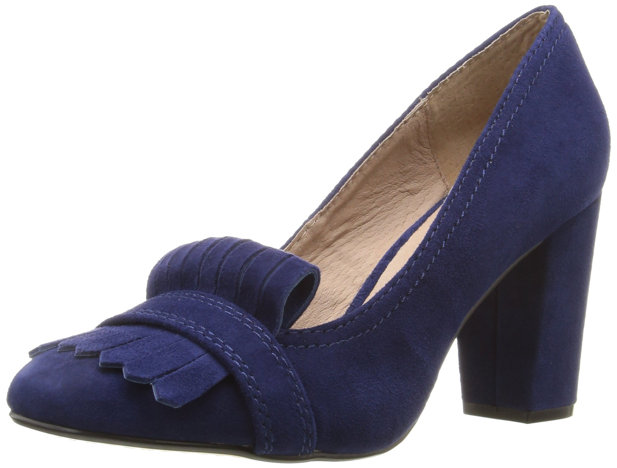 STEVEN by Steve Madden Women's Jade Dress Pump, Blue Suede, 8.5 M US by STEVEN by Steve Madden