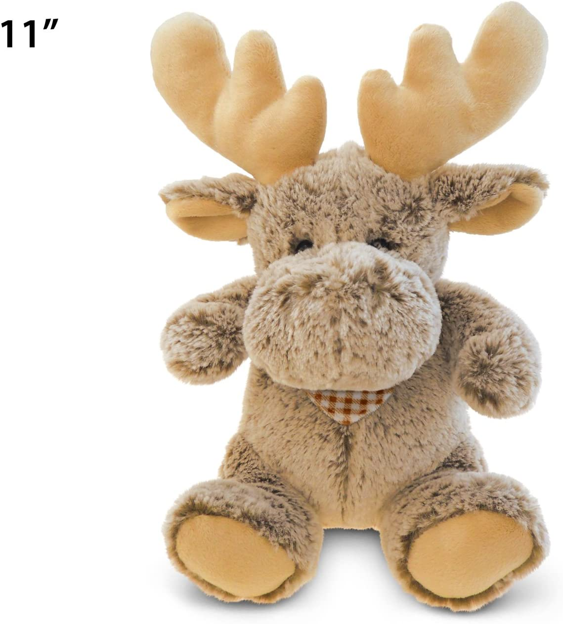 Puzzled Super-Soft Sitting Moose Plush 11 11 Getting Fit 5047