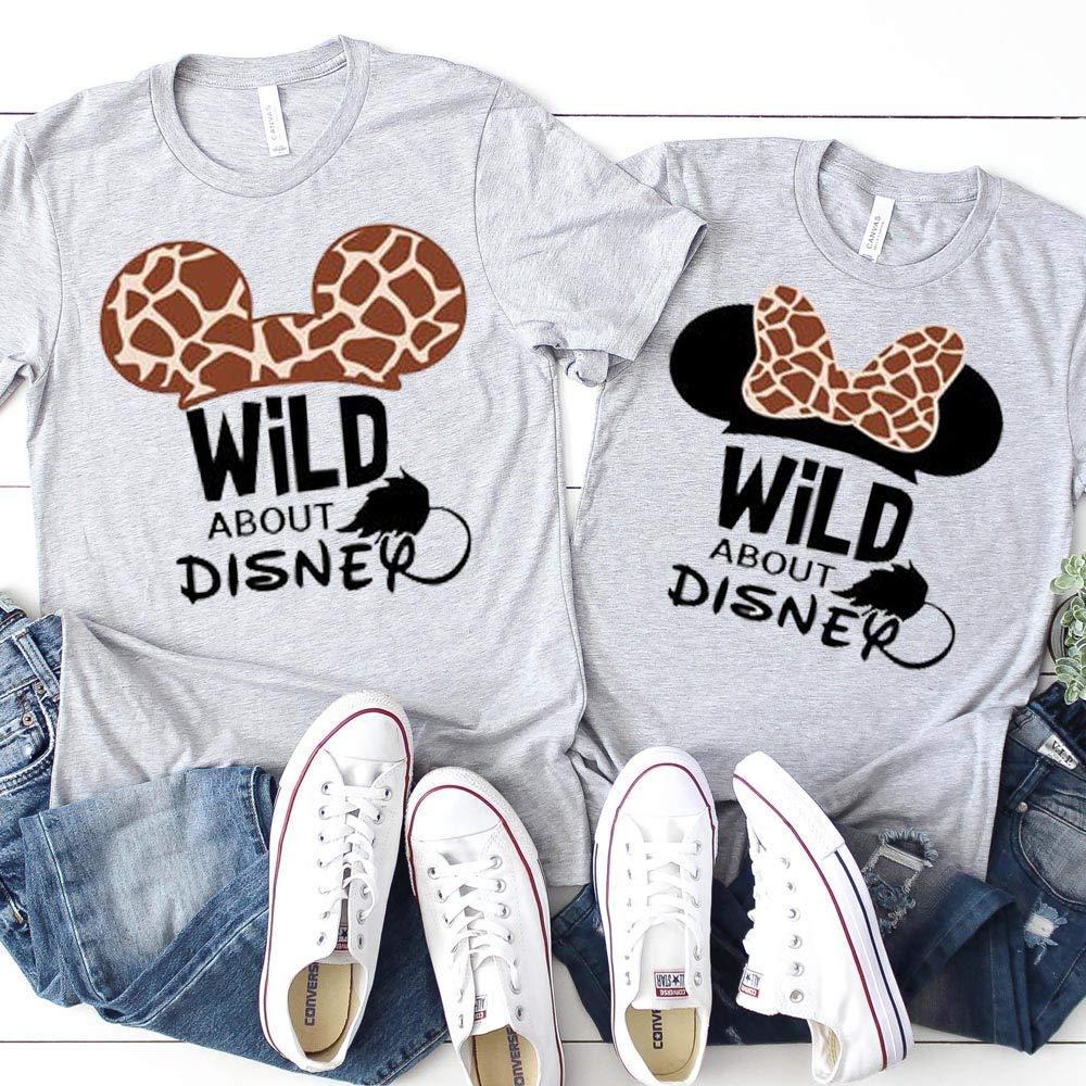 Disney Matching Family T-Shirts Animal Kingdom Giraffe Unisex Kids Baby Adult Couples Shirts