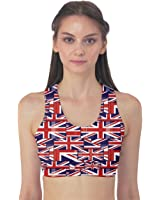 Red Pattern of British Flag Women's Sport Bra