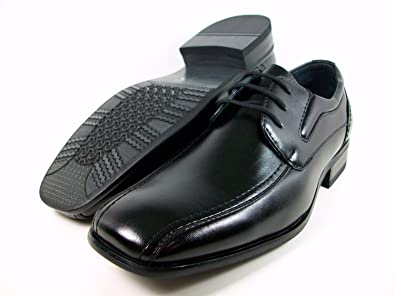 Amazon.com | Kids Boys Black Dress Casual Plain Oxford Shoes | Oxfords