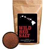 Wild Red Salt Hawaiian Sea Salt With Purified Red Alae Clay For Cooking, Finishing, Baking, Drinks and Bath