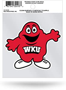 NCAA Rico Industries Small Static Cling Decal, Western Kentucky Hilltoppers