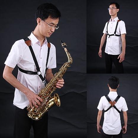710vaSPOxIL._SX466_ amazon com jiuxun saxophone strap adjustable harness of double