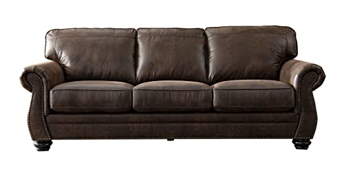 Acanva Living Room Sofa, Walnut Brown