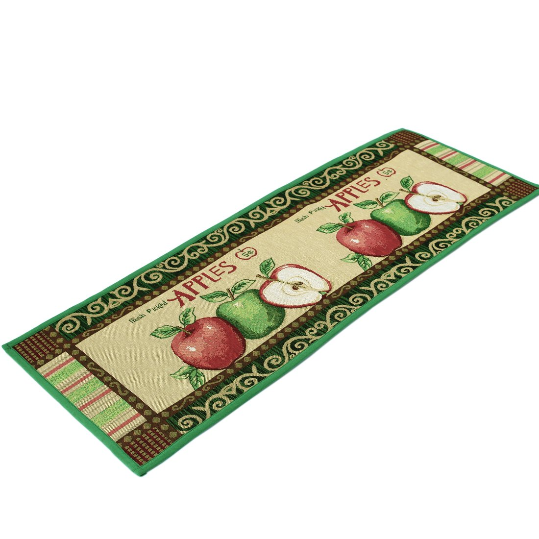 Kitchen Rugs Apple Non Slip Kitchen Mat Extra Long Runner Area Rug for Kitchen Jacquard Bathroom Carpet Printed Floor Rugs,18 x 47 Inches by Amian Shop (Image #3)