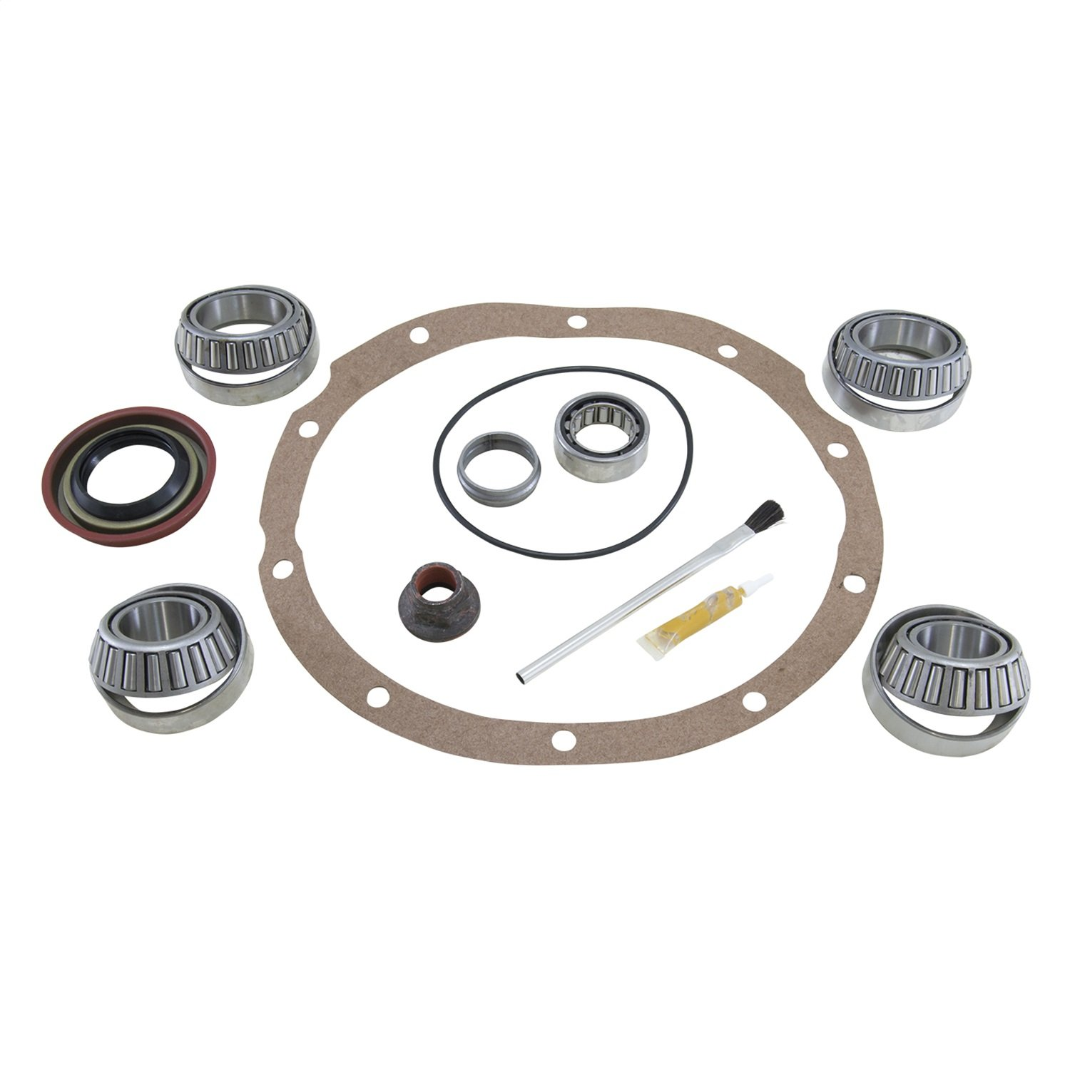 Yukon Gear & Axle (BK F8-AG) Bearing Installation Kit with Aftermarket Positraction/Locker for Ford 8 Differential