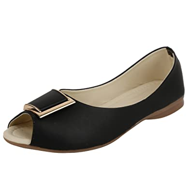 ELLE WINGS Women Front Open Style Black Bellies  Buy Online at Low Prices  in India - Amazon.in 95e591bdb7