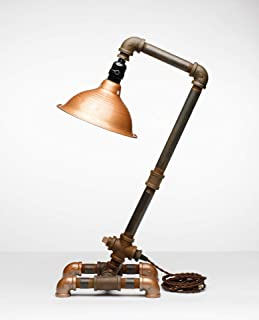 product image for Pipe Industrial Table-Top Desk Lamp Made in America (Willoughby Lamp)