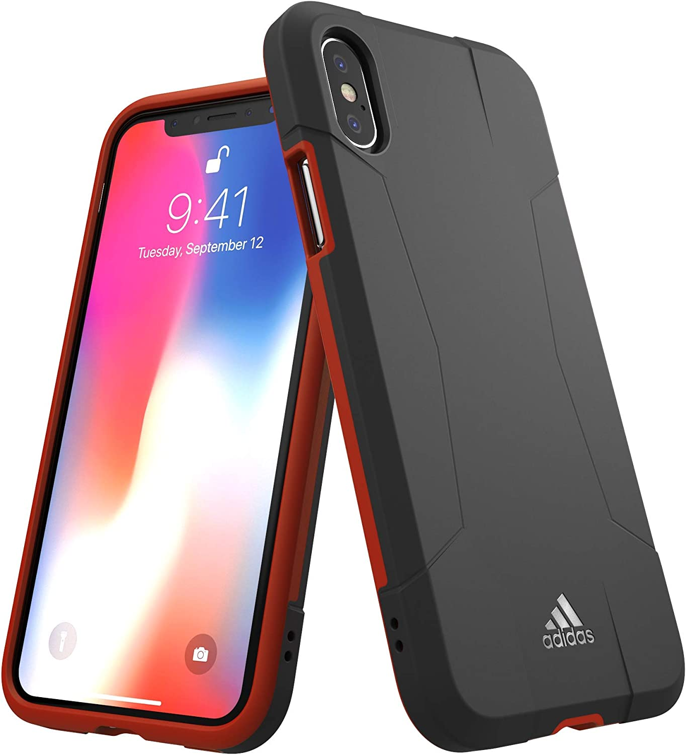 adidas Sports Solo for iPhone X/XS - Black Energy red
