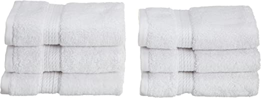 12 PACK WASH CLOTHS 12x12 INCH HOTEL QUALITY WHITE EGYPTIAN COTTON FACE TOWEL