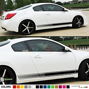 Perfect 2x Decal Sticker Vinyl Side Racing Stripes Compatible With Nissan Altima  Coupe 2008 2013