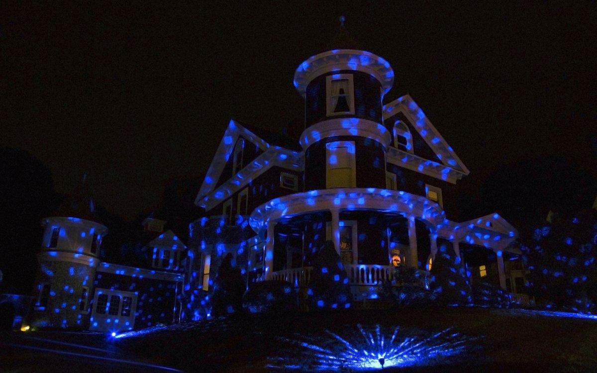 Ion audio holiday party faro da esterno con luci led multicolore e