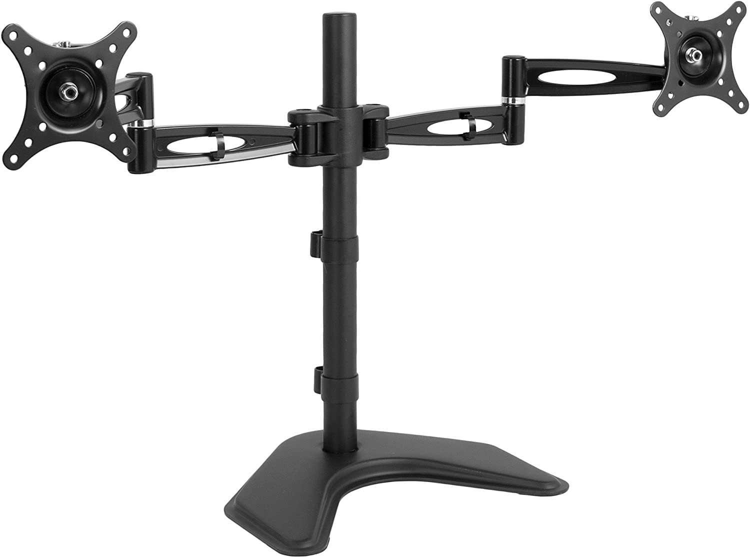 VIVO Dual LCD Monitor Free Standing Desk Mount, Heavy Duty Fully Adjustable Stand fits 2 Screens up to 27 inches (STAND-V002Z)