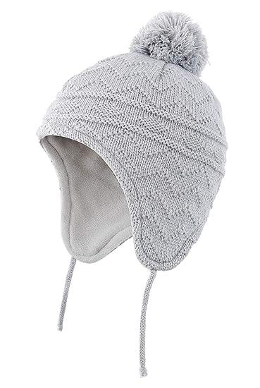 Magracy Baby Toddler Winter Hats Warm Earflap Beanie Hat Kids Pom Knit Hat