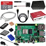 Sanoov Raspberry Pi 4 Model B RAM 4GBラズベリーパイ4b ラズパイMicroSDカード32GB 5V USB-Type-C 電源アダプター/新しい専用ケース/冷却ファン/MicroHDMI-to-HDMIケーブルライン/ドライバー/ラズパイ専用ケース/カードリーダ