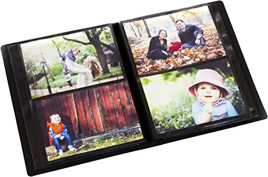 Space Saver Art Portfolio with Protective Poly Case 2PO Photo Album 5x7 Inch Holds 100 Photos