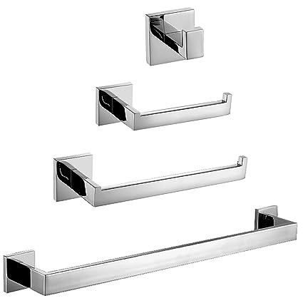 Homovater - Accesorios de baño para pared de acero inoxidable 304, plateado
