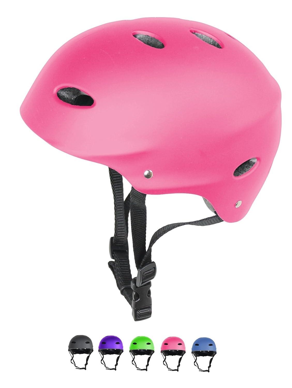 Kids / Childs / Childrens Urban Skate Helmet Ideal For Skateboard Bike BMX and Stunt Scooter Black Pink Green Blue Age Guide 3 - 8 years Boys / Girls HI Mark