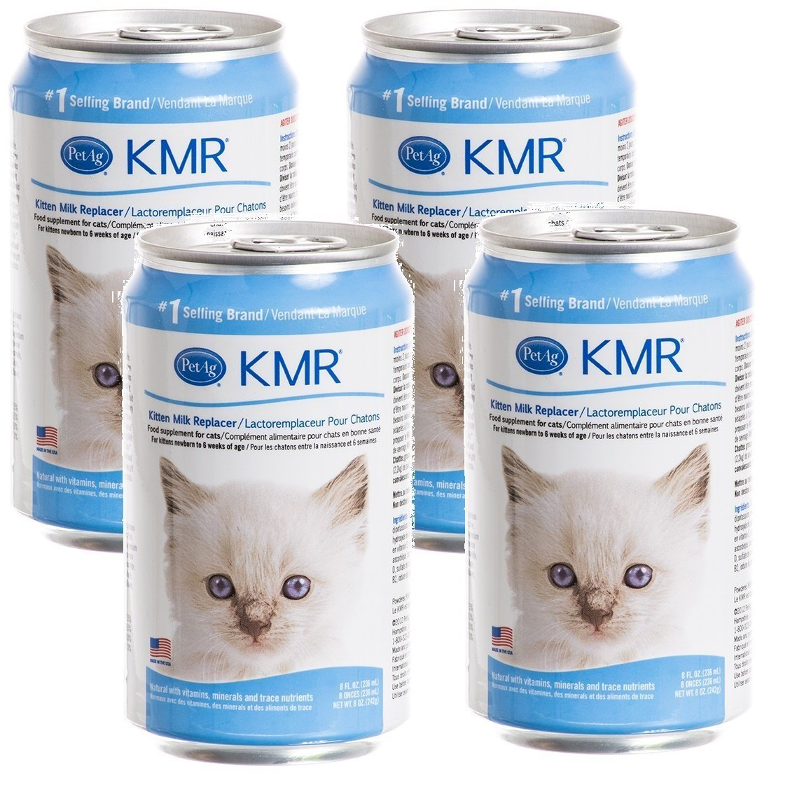 (4-Pack) KMR Liquid Milk Replacer for Kittens and Cats, 8-Ounce Cans by KMR