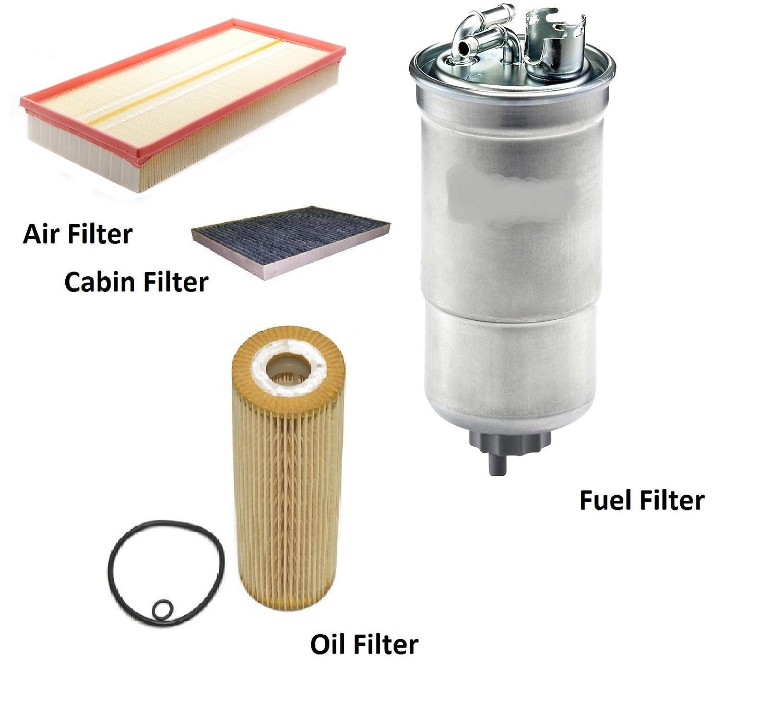 Alco Filter Vw007 Oil Fuel Air Pollen Service Kit Comline Mehr Filters