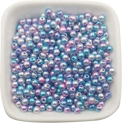 Blue Round Glass Pearl Beads 4mm 6mm 8mm 10mm Premium Quality Weddings Crafts