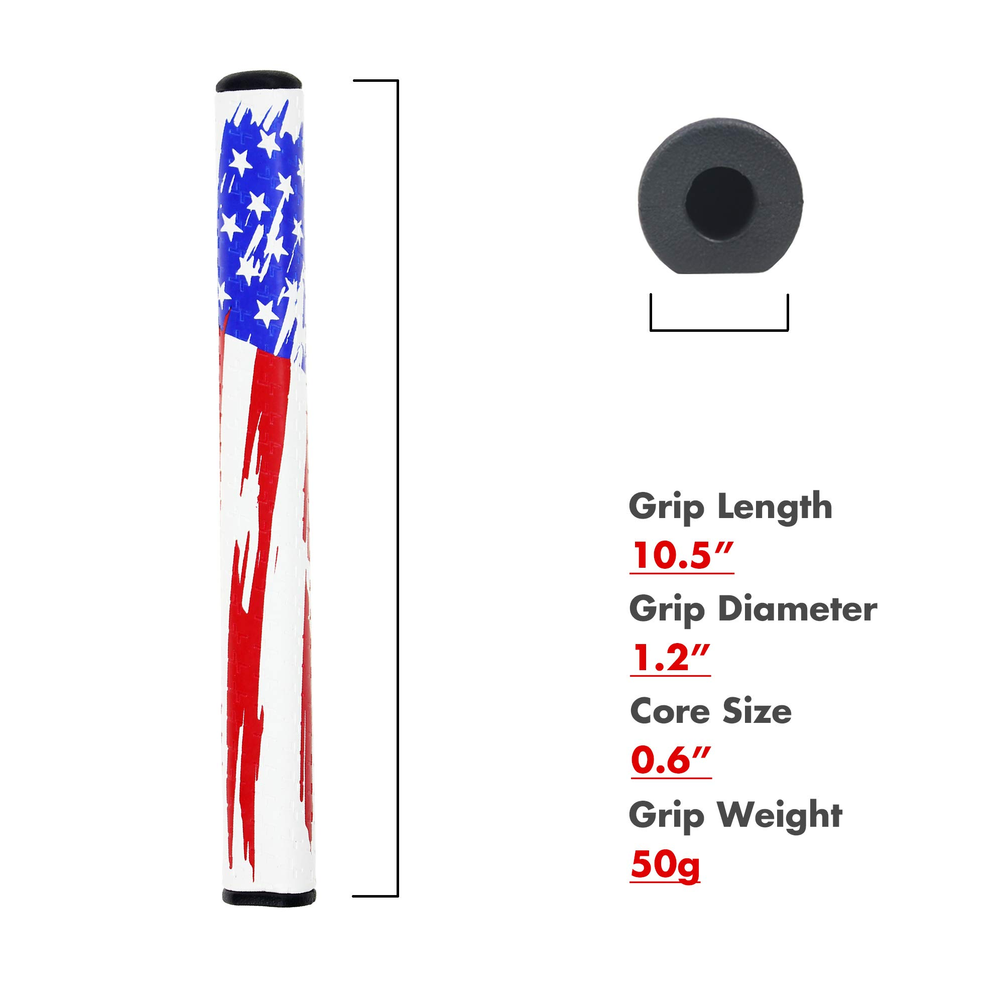 SAPLIZE Golf Putter Grip, M.A.G.A. Series(RDST01), Standard Size by SAPLIZE (Image #5)