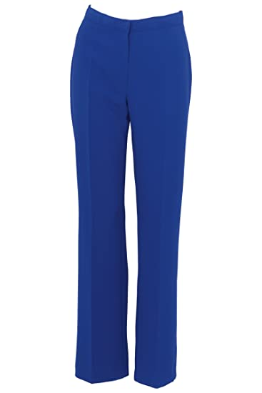 984c5a8963e981 Busy Clothing Womens Smart Royal Blue Trousers: Amazon.co.uk: Clothing