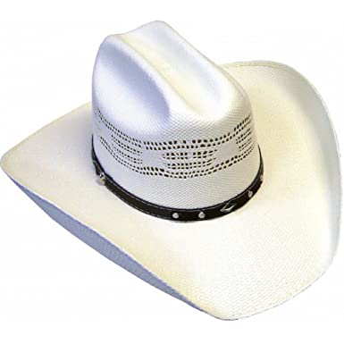 e716b4f991b Summit Mens  50X Bangora Real Straw Cowboy Hat at Amazon Men s ...