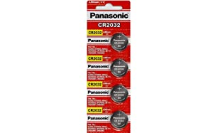 Panasonic CR2032 3V Lithium Coin Battery (Pack of 4)