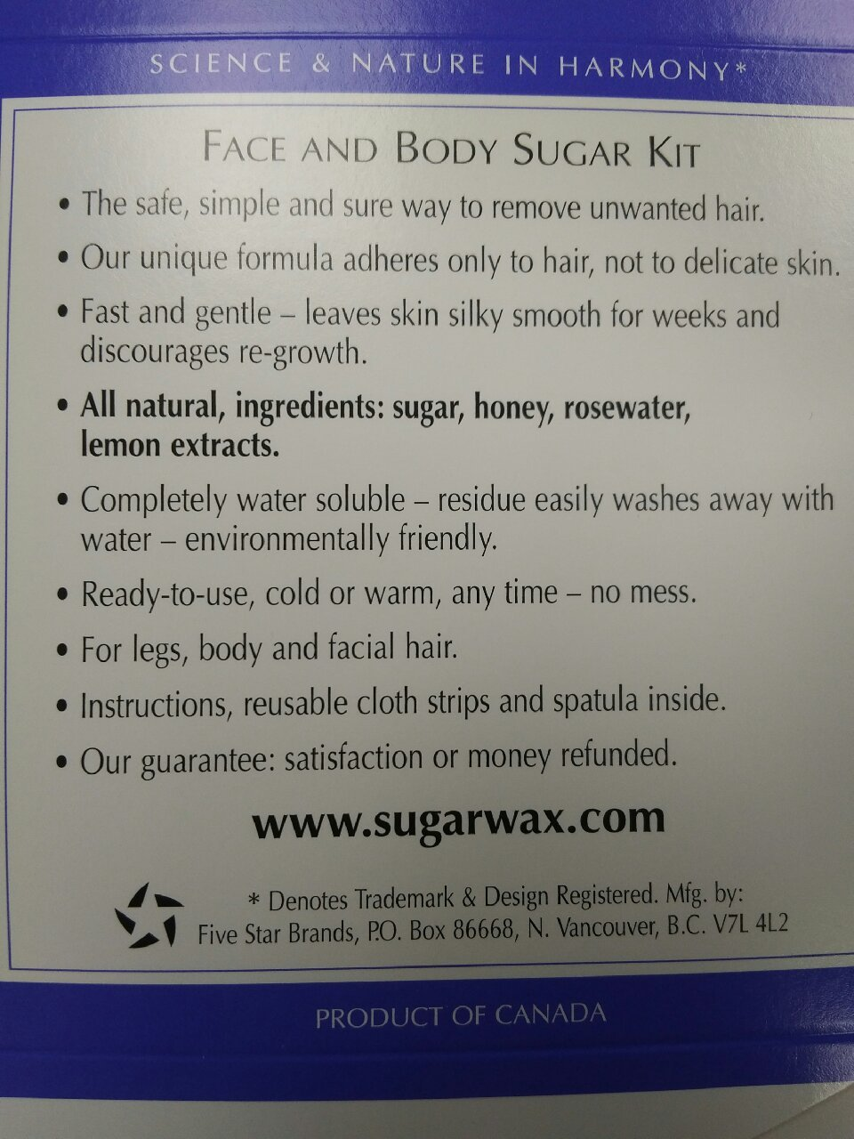 Waxaway Sugar Formula Wax Kit