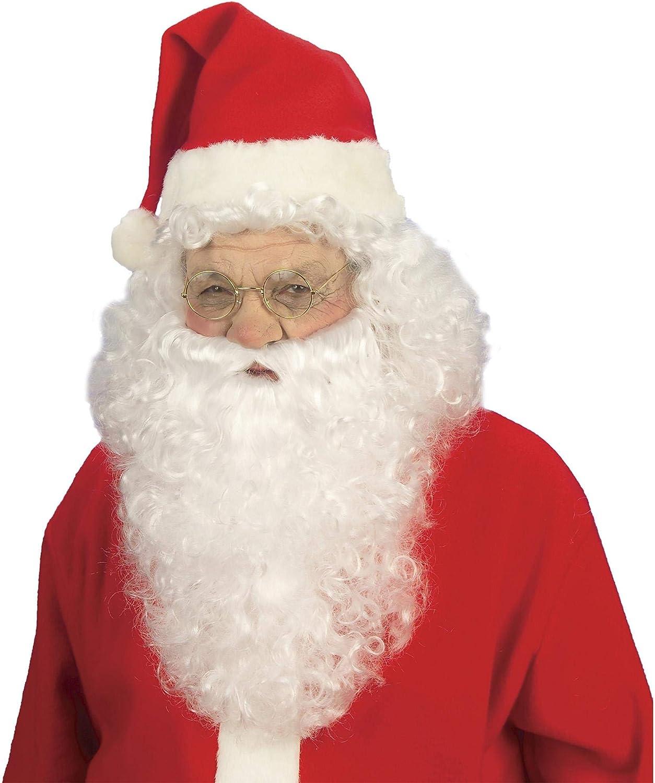 White Mens Santa Claus Wig /& Beard